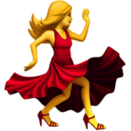 The Woman Dancing Emoji On Iemoji Com Dance Emoji Girl Emoji Dancing Emoticon