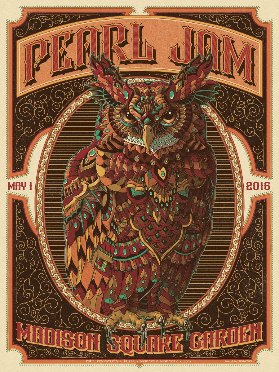 Pearl Jam Poster (Madison Square Garden) / BIOWORKZ | Eddie and the ...