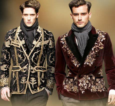 baroque inspired fashion men - photo #25