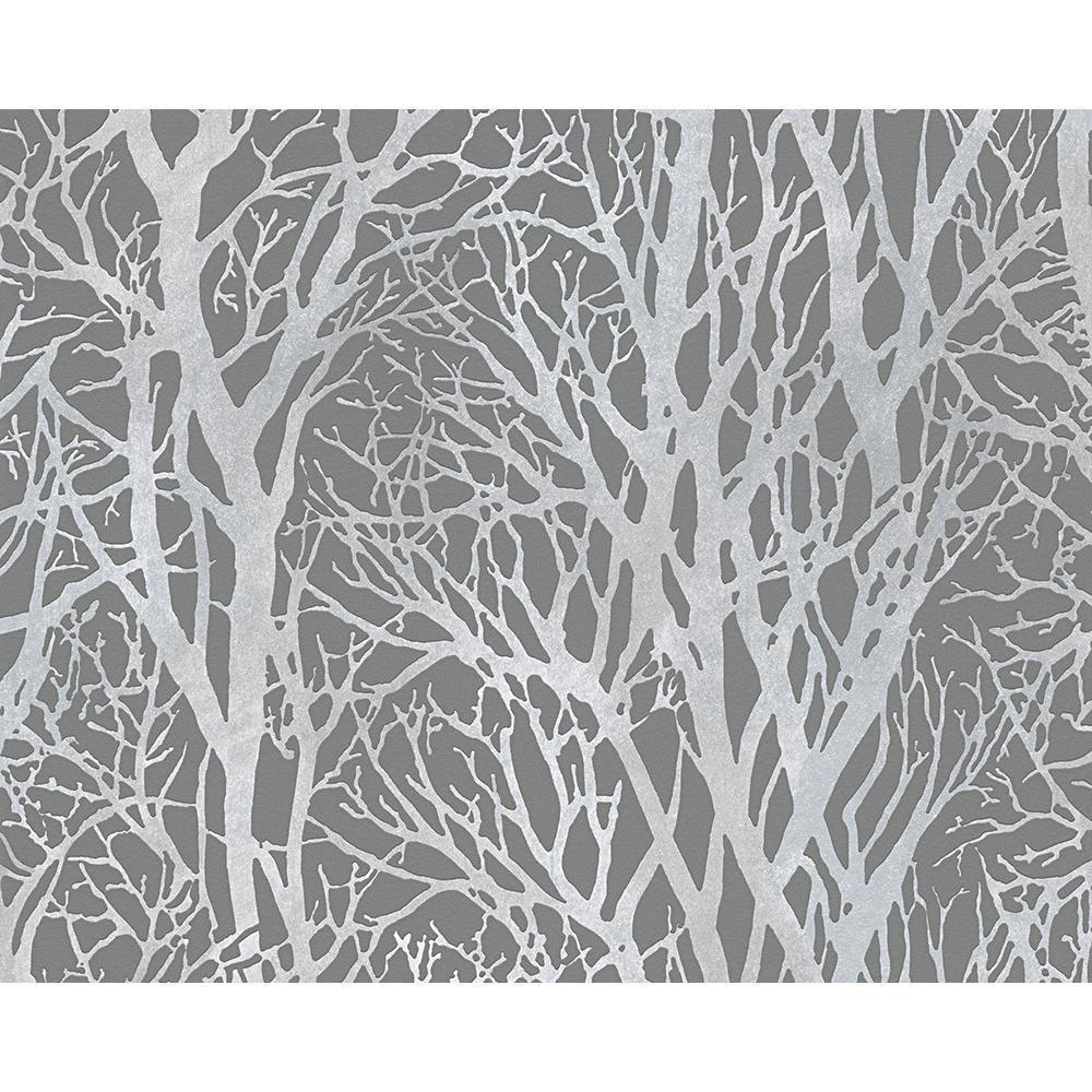 Chambre Comme Creation Foret Bois Arbre Metalique Perle Motif