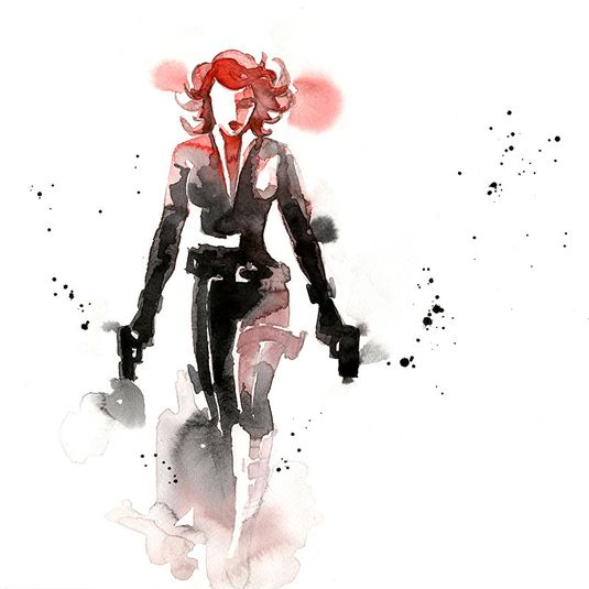 You\'ll fall in love with these watercolour superheroes | Concept ...