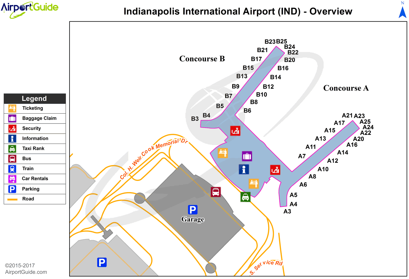 indianapolis international airport map Indianapolis Indianapolis International Ind Airport Terminal Map Overview Airport Car Rental Indianapolis International Airport Car Rental indianapolis international airport map