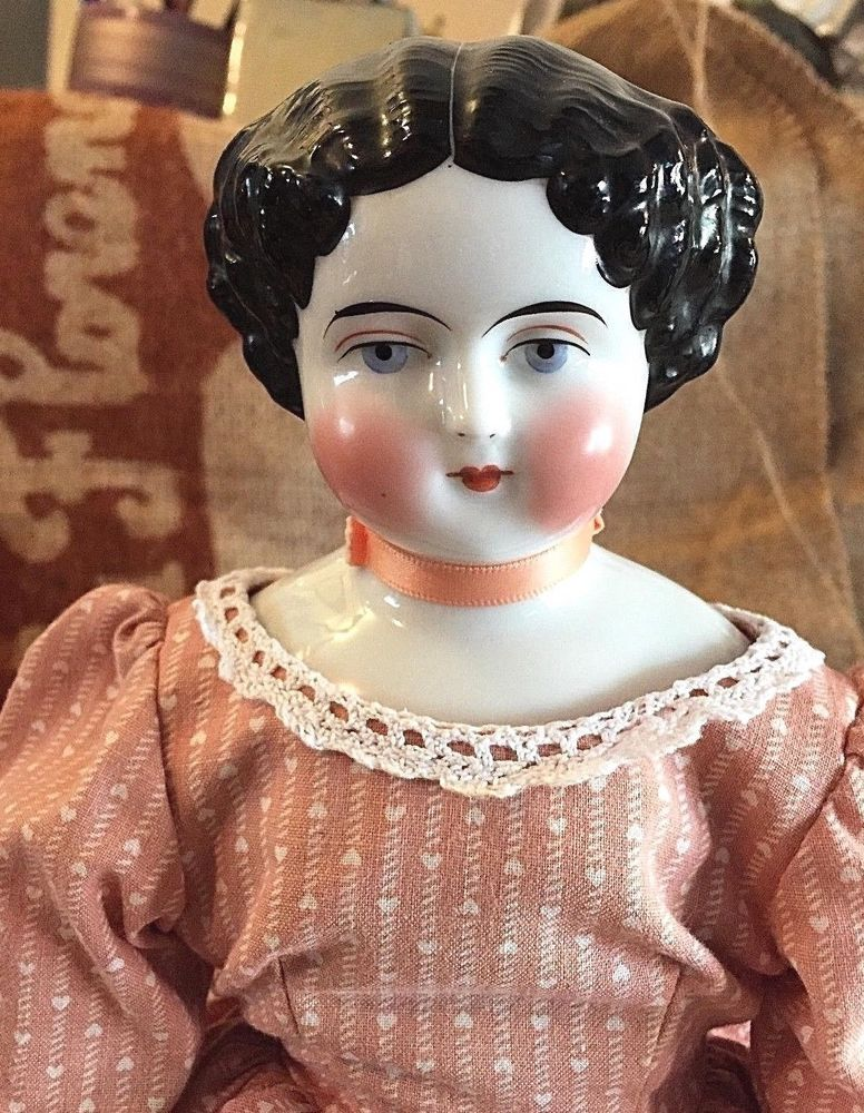 German China Doll Nice Condition Old Body Replaced Arms Beautiful Heirloom China Dolls Porcelain Doll Molds China Head Doll