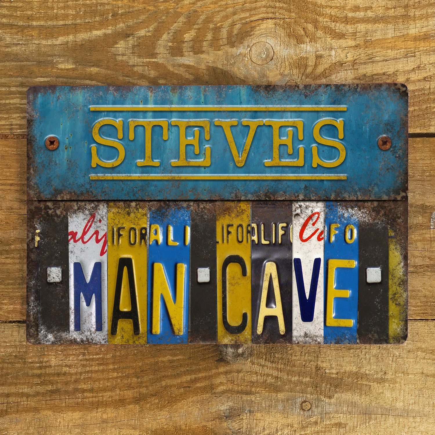 personalised metal sign man cave vintage metal wall sign plaque rh pinterest com