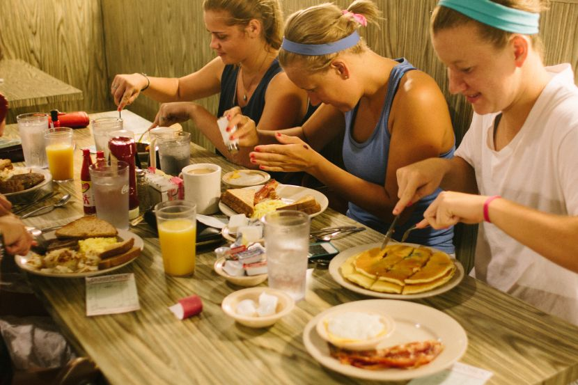 Unc Chapel Hill Housing And Residential Education Eat Breakfast Waffles Chocolate Chip Pancakes