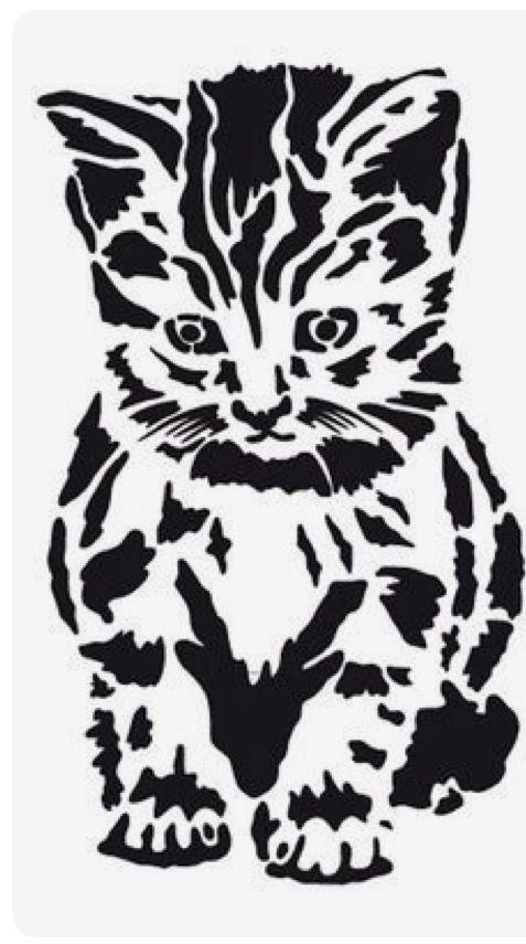pinsebastian kardel on cats  animal stencil