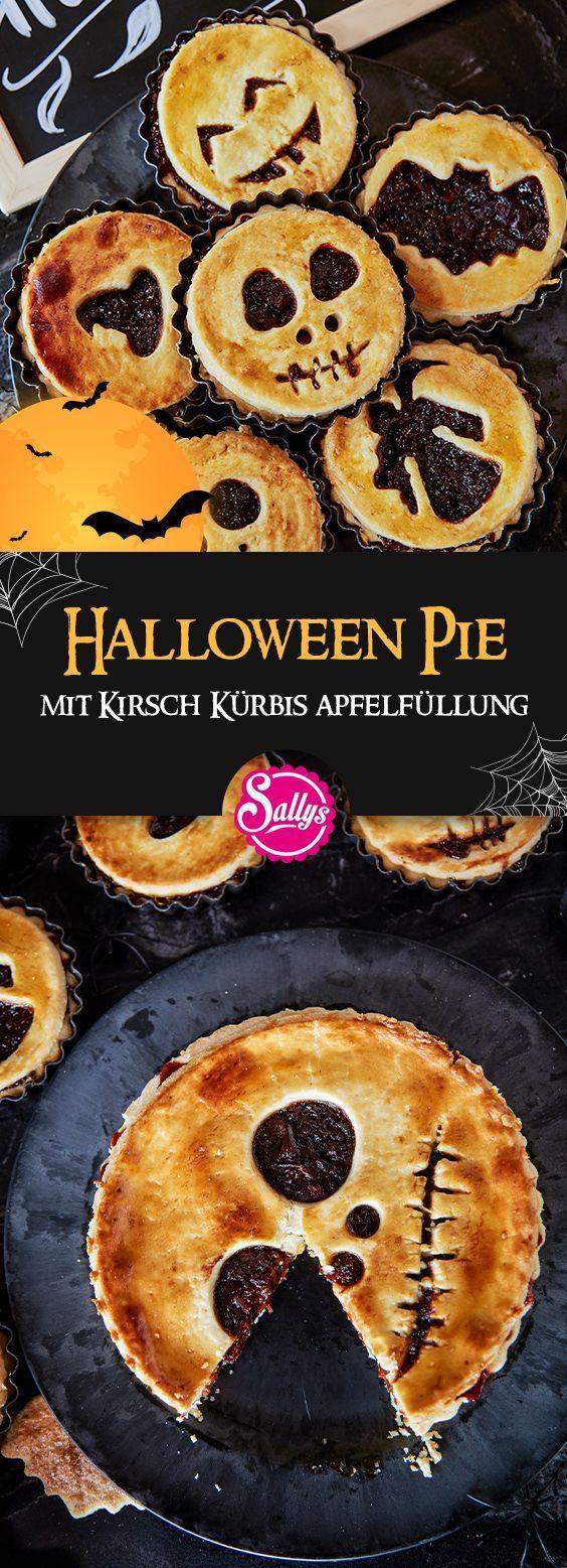 Diese süßen Halloween Pies / Tartes sind eine perfekte Snack-Idee für die nächste Halloween Par