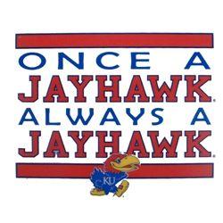 Jayhawk Static Cling Decal