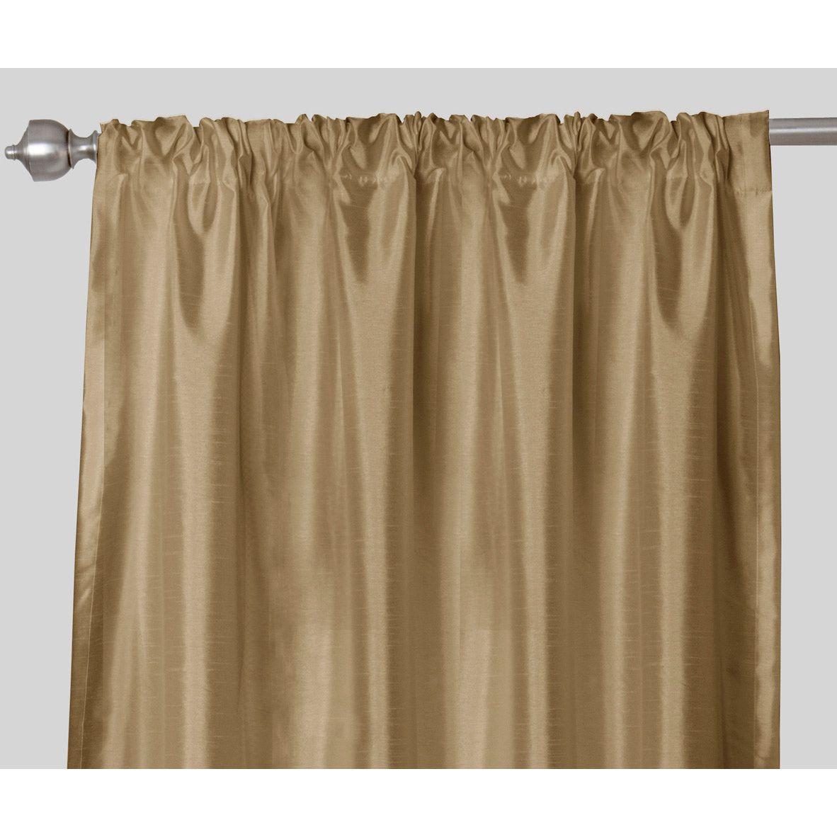 Maytex Faux Silk Rod Pocket 84 Inch Curtain Panel Pair (Plum), Purple, Size  52 X 84