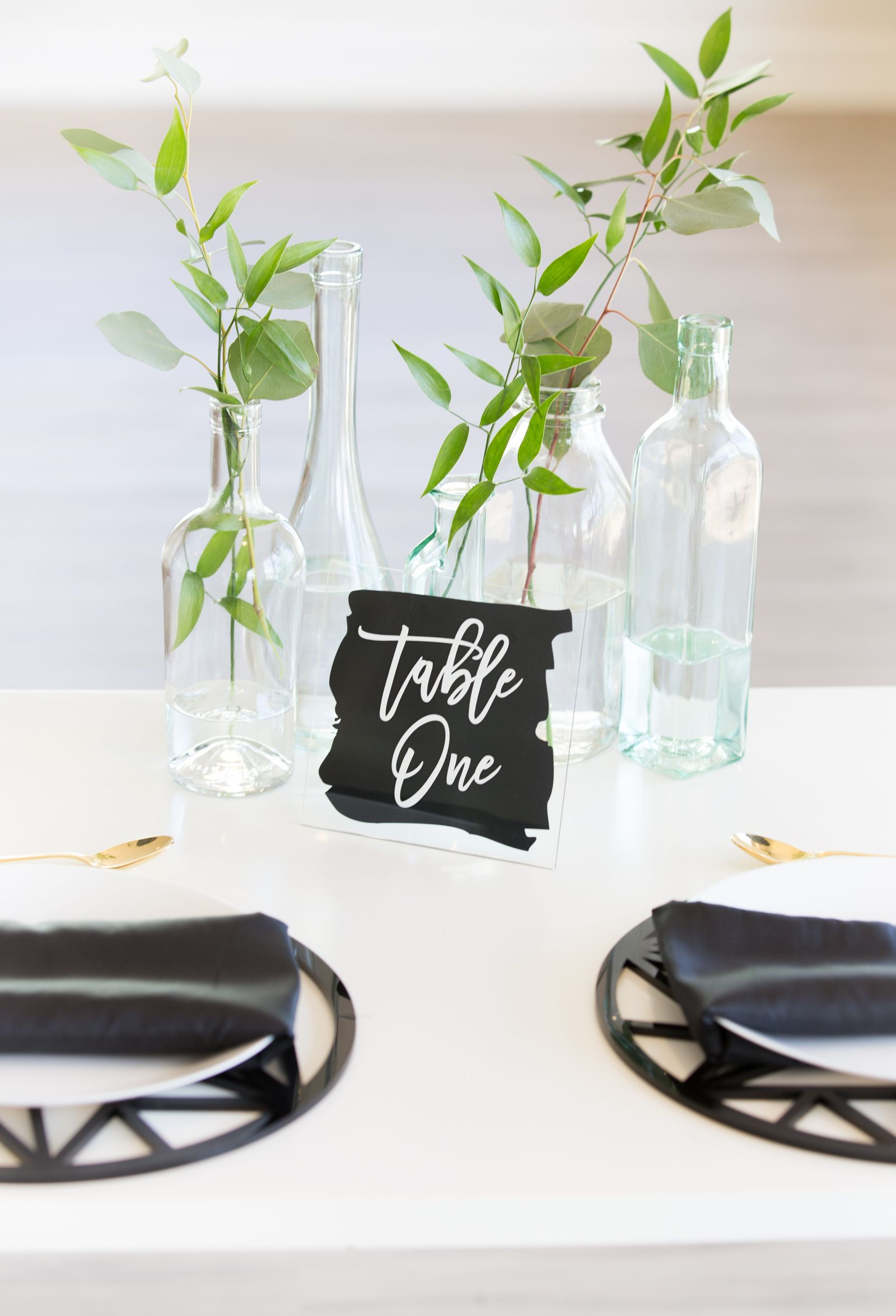 Paint Calligraphy Style Wedding Table Numbers in Black | Handmade ...