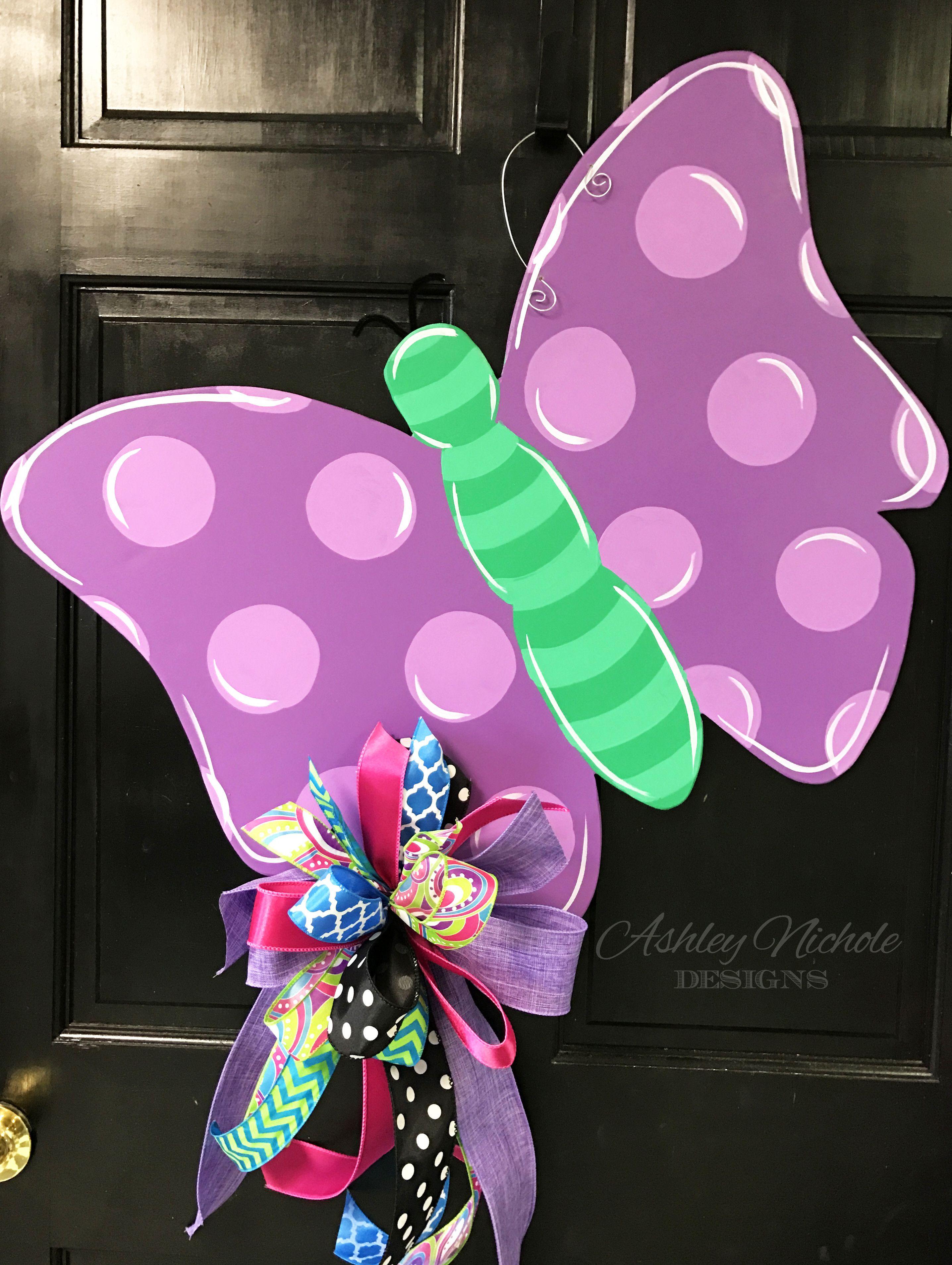 Butterfly Door Hanger | Spring & Summer Door Decor ...