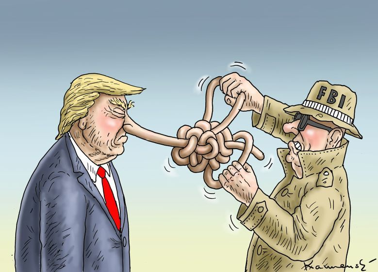 Image result for caricature fbi and trump