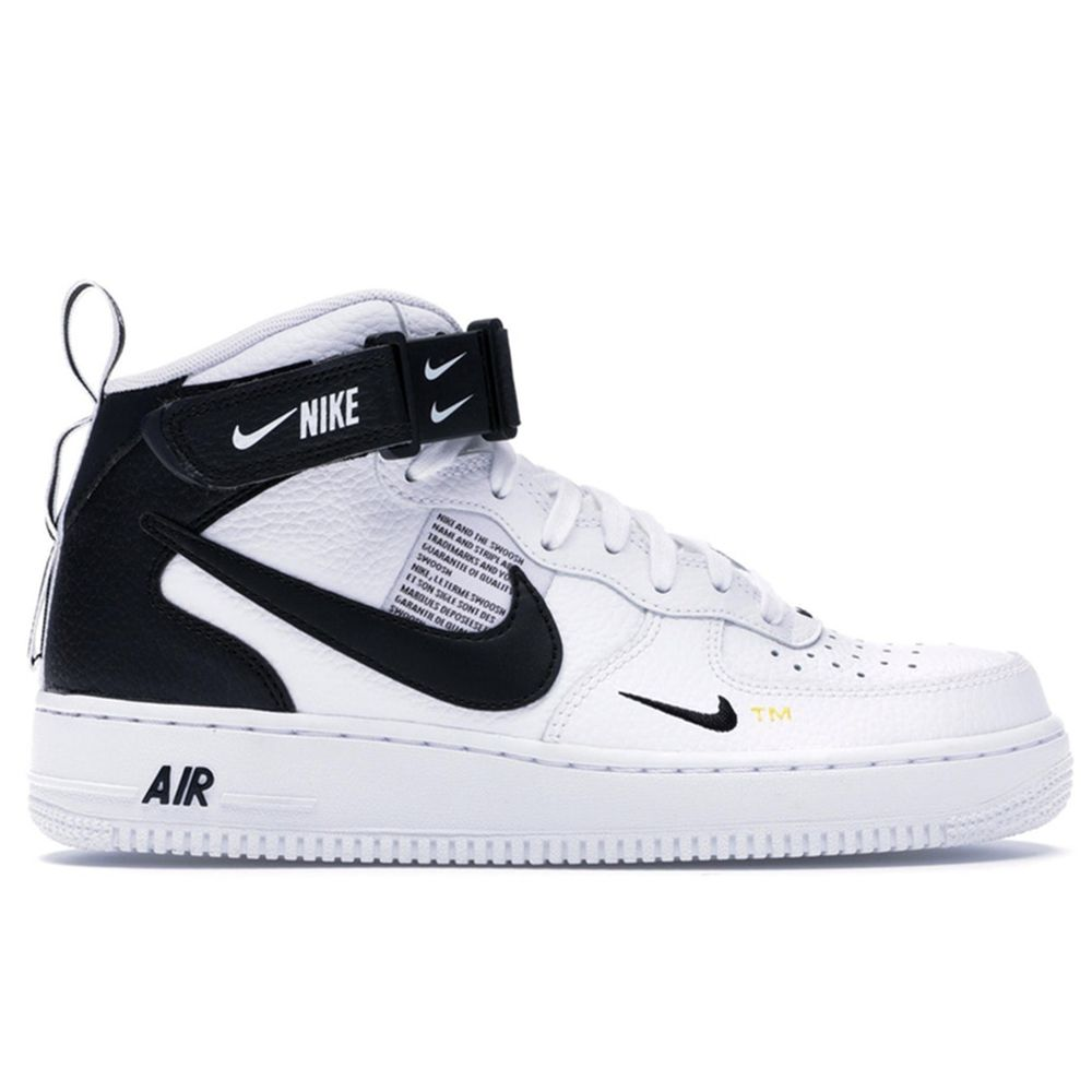 Air Force 1 Mid Utility White Black 804609 103 In 2020 Air Force