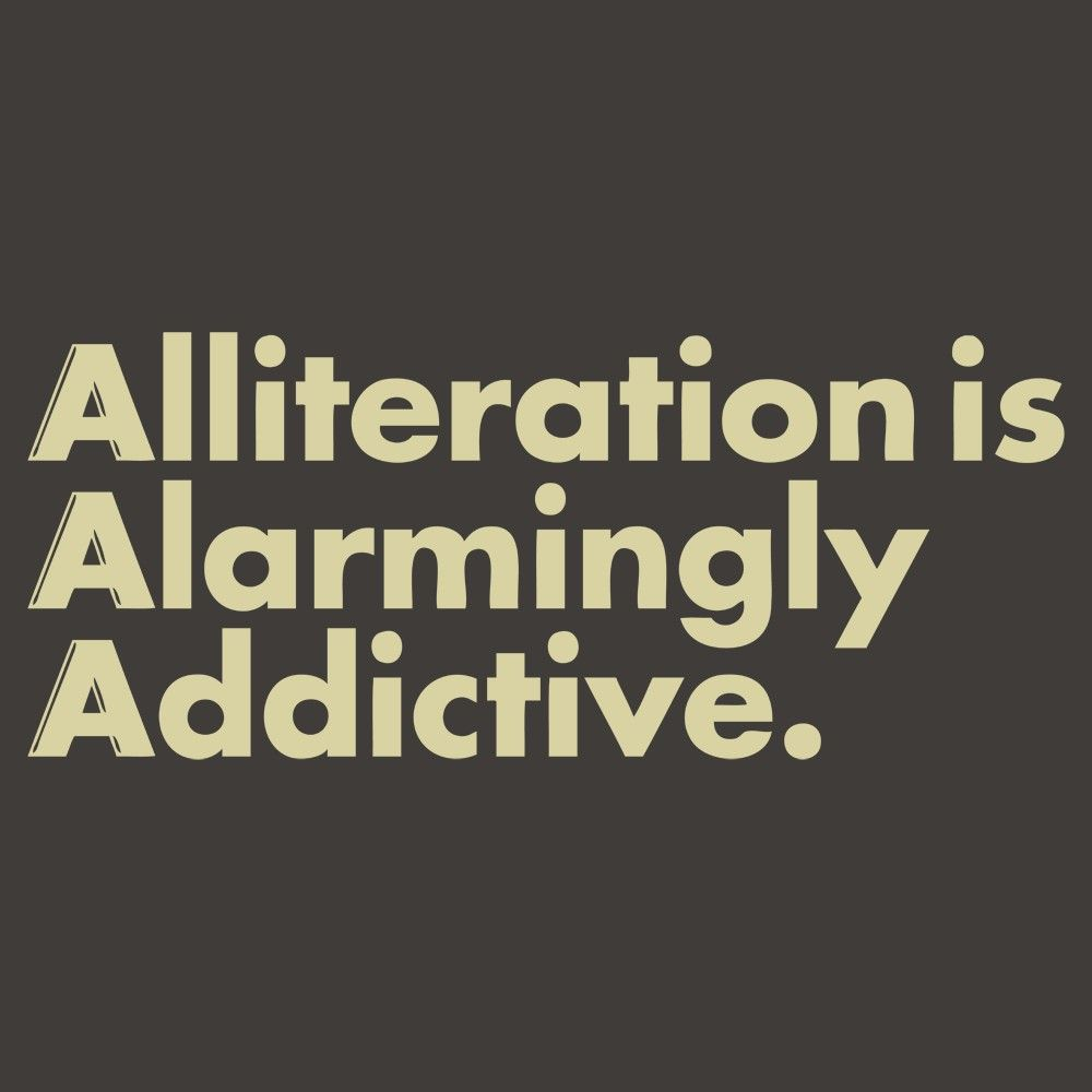 Alliteration the repetition of a word or phrase at the beginning