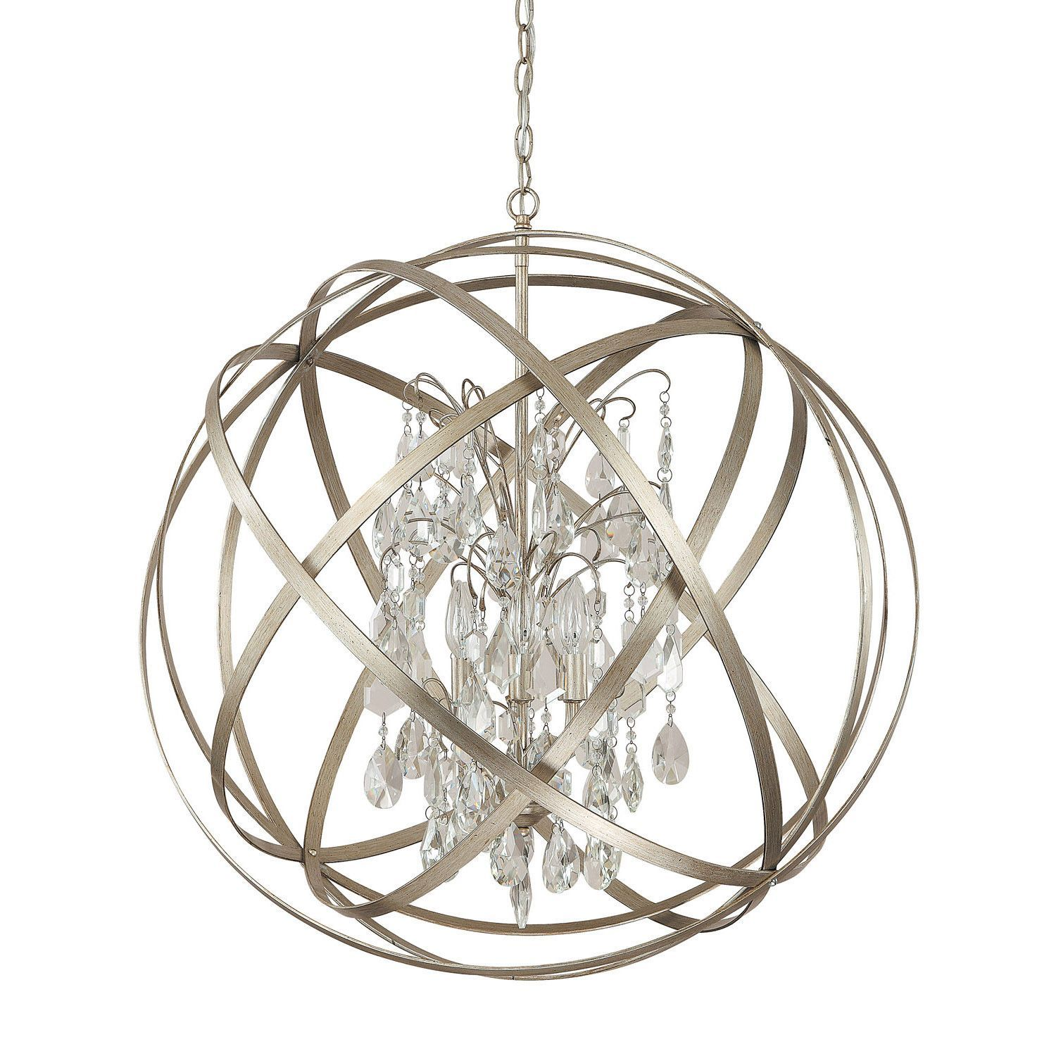 Our Axis Orb Chandelier Is Fabulous You Ve Seen Cousins Of This Fixture In Every Home Decor Magazine On Your Coffe Orb Chandelier Capital Lighting Winter Gold