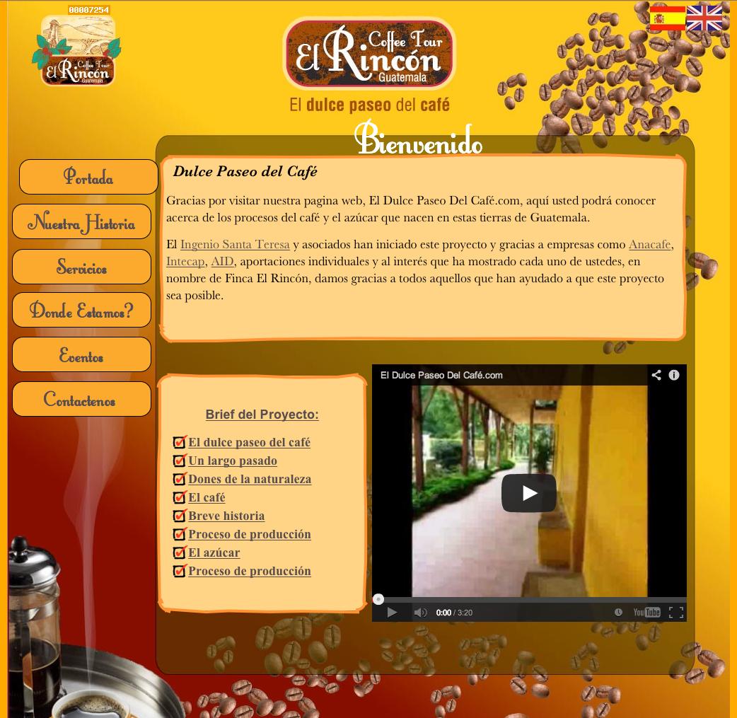 Empresa: El Dulce Paseo del Café, S.A.  Role: Finca de café, Tourismo.  Web: www.eldulcepaseodelcafe.com