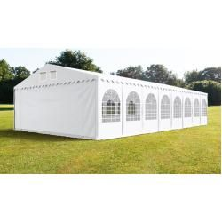 Photo of Party tent 8x16m Pvc 550 g / m² white waterproof garden tent, marquee, pavilion Toolport