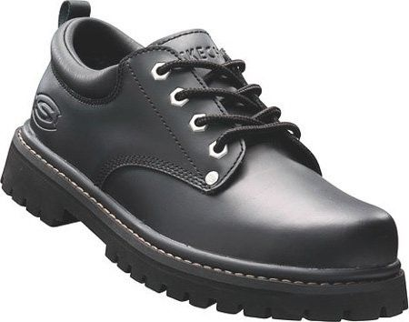 skechers men's alley cats casual oxford black size 7 1