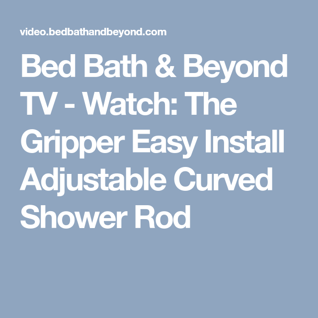 Bed Bath Beyond Tv Watch The Gripper Easy Install Adjustable
