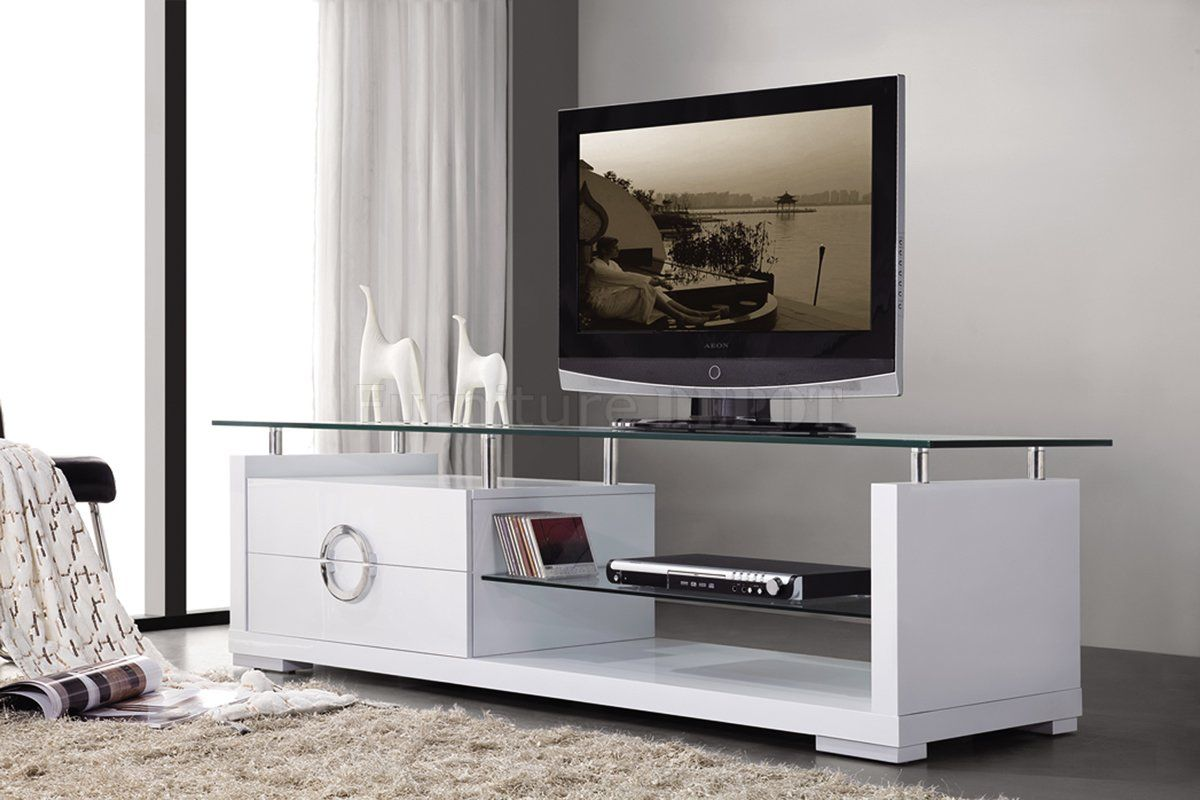 Find best value and selection for your NEW MODERN CONTEMPORARY  ENTERTAINMENT WHITE TV STAND 2 DRAWERS W GLASS TOP