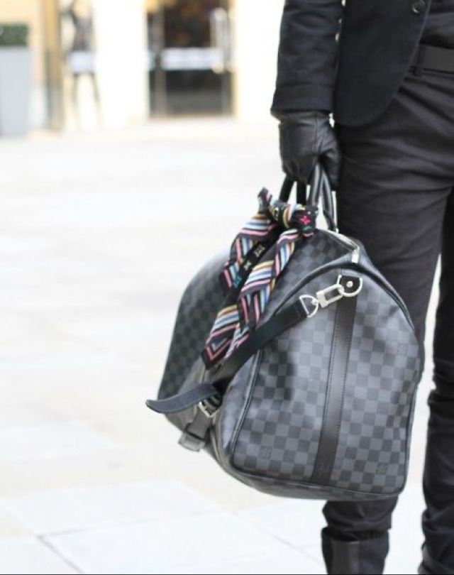 Damier Graphite Keepall by Louis Vuitton