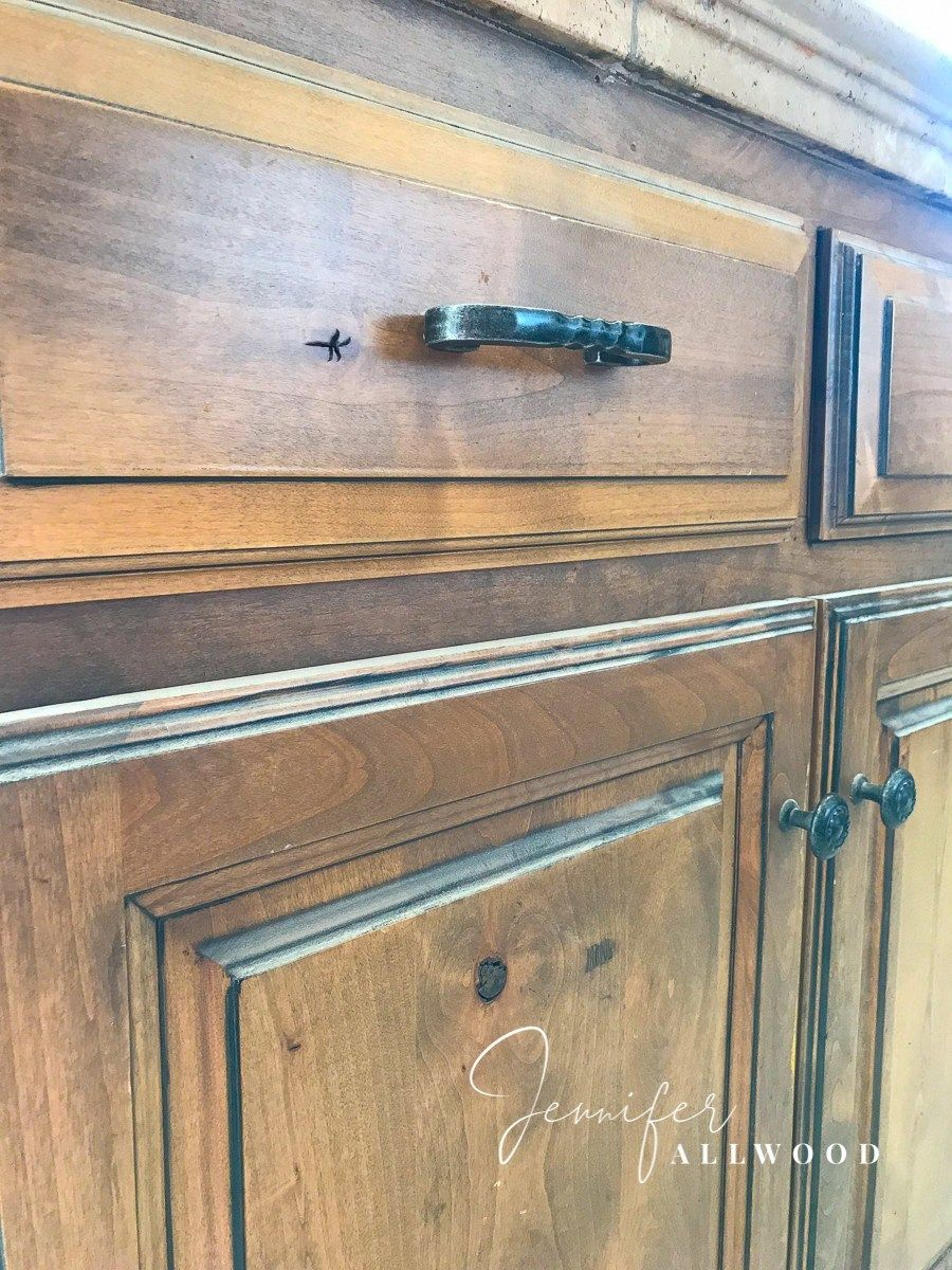 How To Update Knotty Alder Cabinets And Make Them Smooth Jennifer Allwood Knotty Alder Cabinets Alder Cabinets Knotty Alder
