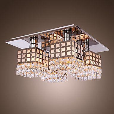 araña de cristal moderno de vida inoxidable 4 luces – USD $ 129.99