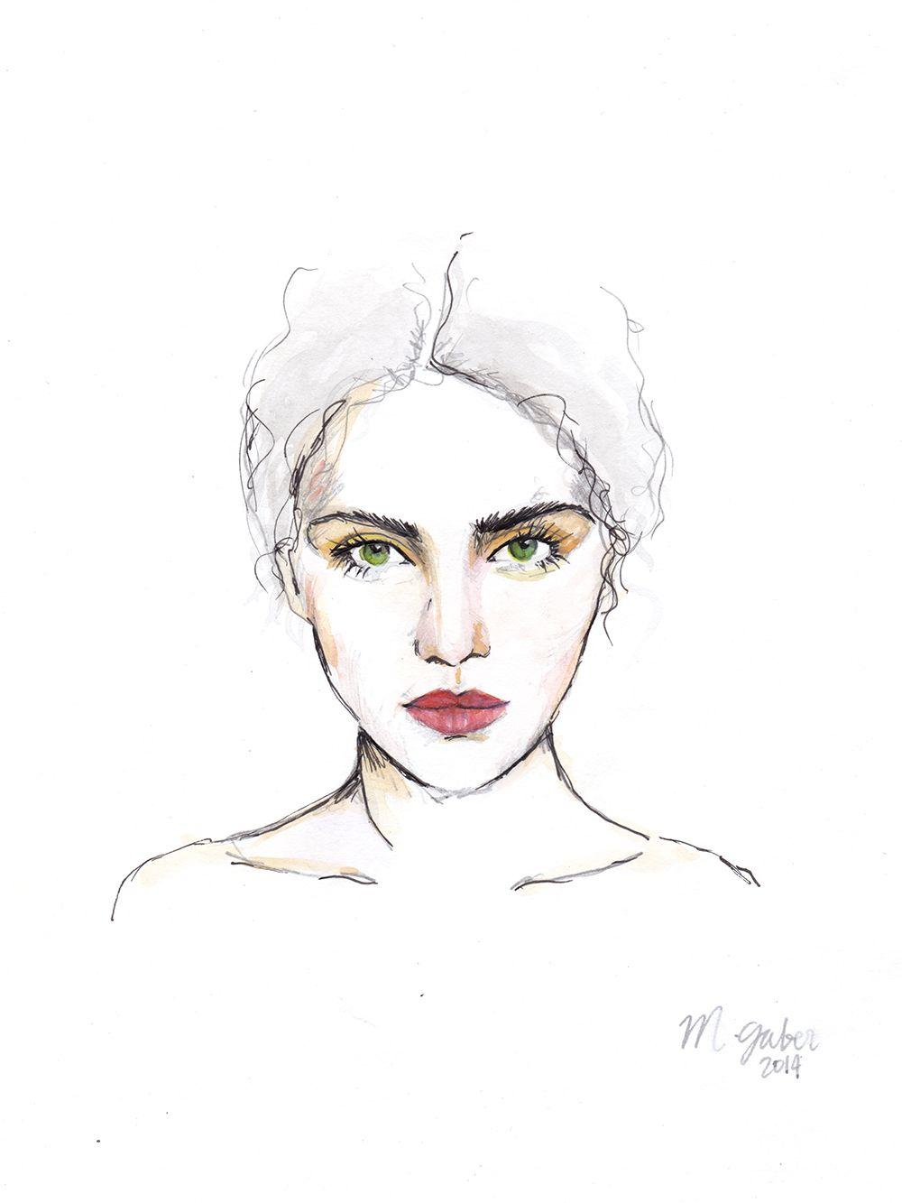 Watercolor Fashion Illustration Sketch Face Drawing Fa Fashion Illustration Sketches Face Watercolor Fashion Illustration Sketches Fashion Illustration Face