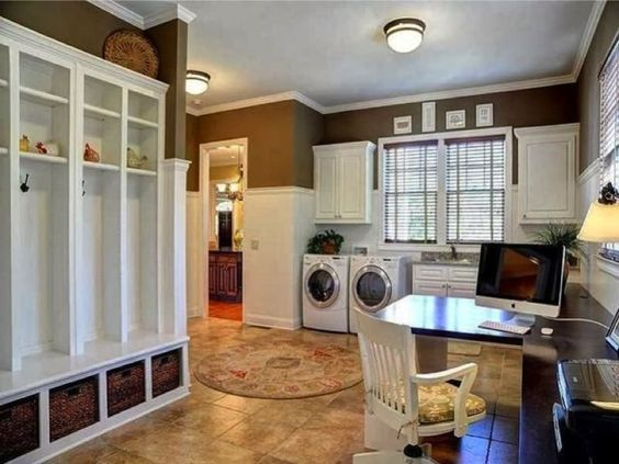 Mudroom Ideas Featuring Storage Areas Benches Luxurious Laundry Room Home House My office space in mudroom