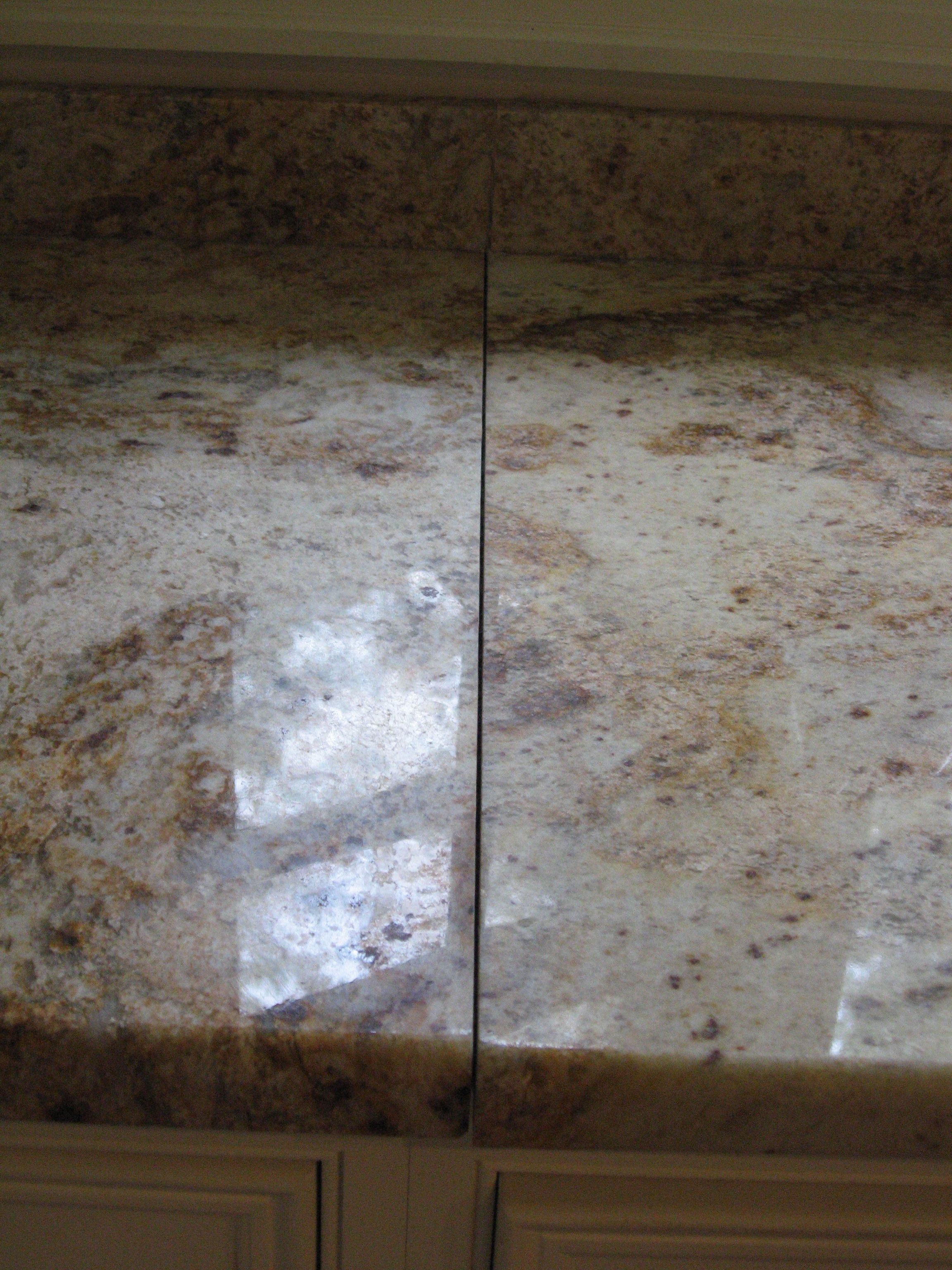 This Kitchen Granite Counter Top Had A Broken And Loose Seam With