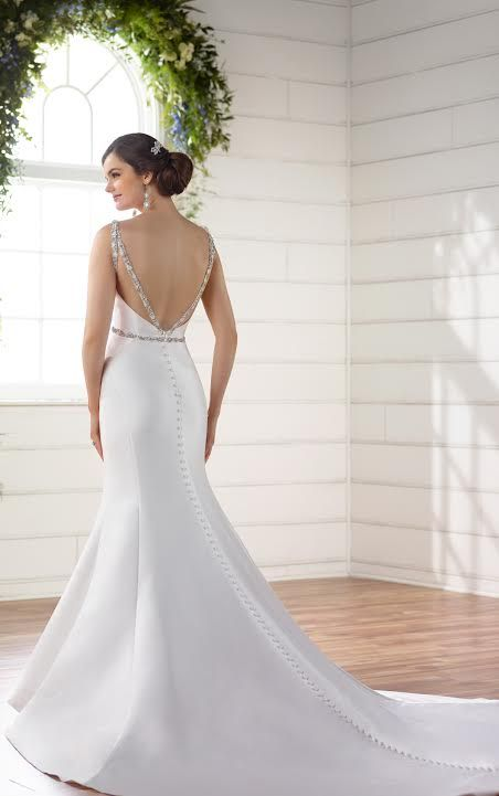 Stunning Ed Trumpet Mermaid High Neck Low Back Wedding Dress By Designer Essence Of Australia Available At The Bridal Cottage In Nlr Ar