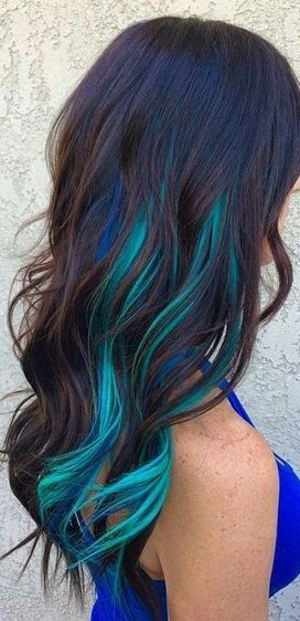 Blue Teal Highlights Underneath Yesss Giving Me Excitement