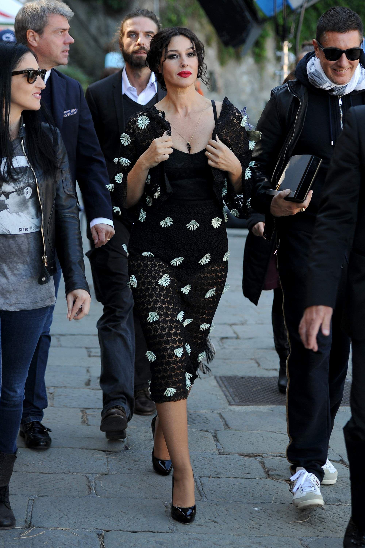 e9e58c0ebad Monica Bellucci On The Set of Dolce Gabbana Spot
