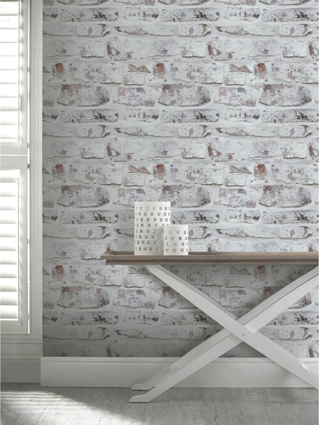 3f02cd366822d ARTHOUSE Whitewashed Brick Wall Wallpaper