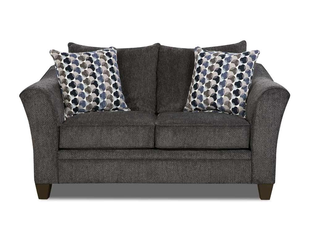 Outstanding Simmons Upholstery Albany Loveseat In Slate 6485 02 Machost Co Dining Chair Design Ideas Machostcouk