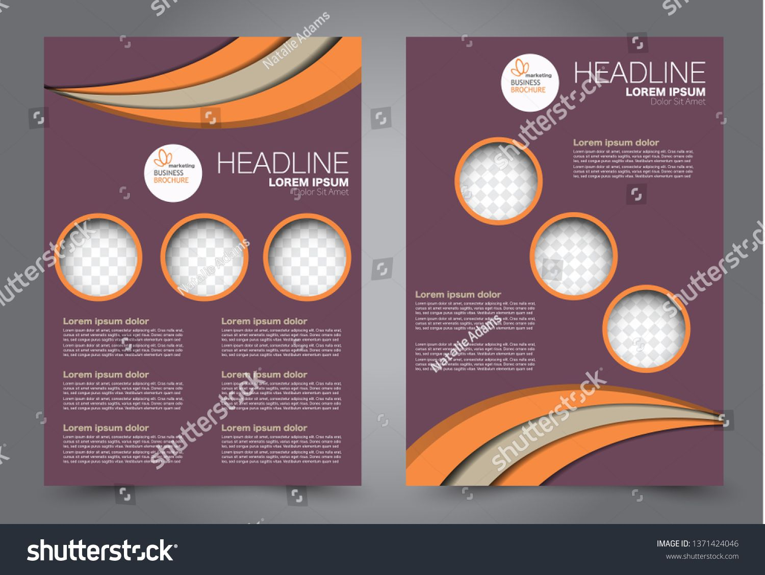 Flyer template. Brochur design for a business, education