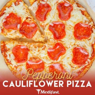 Pepperoni Cauliflower Pizza With Images Cauliflower Pizza
