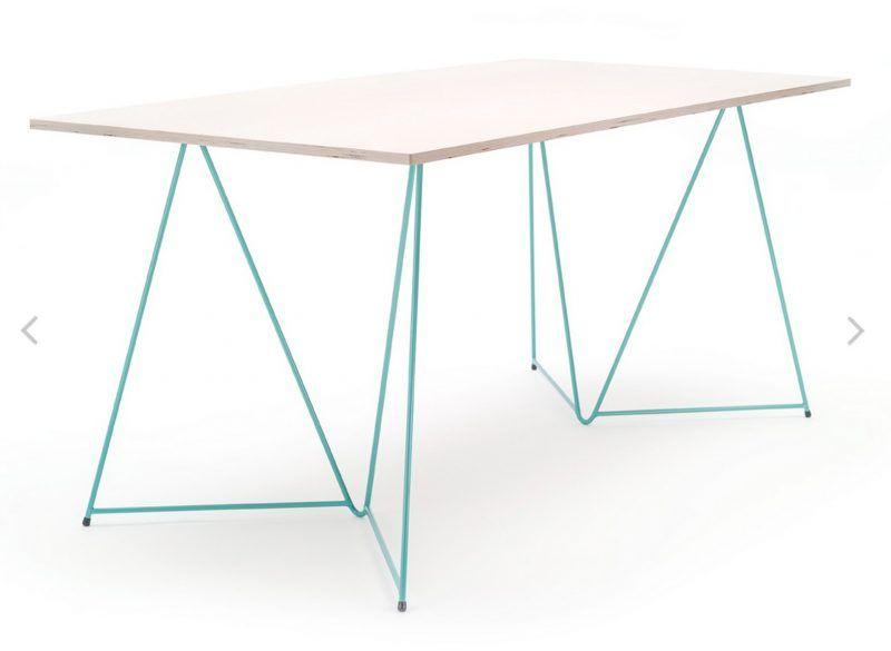 Tréteaux design pour bureau diamond green bureau fait avec des