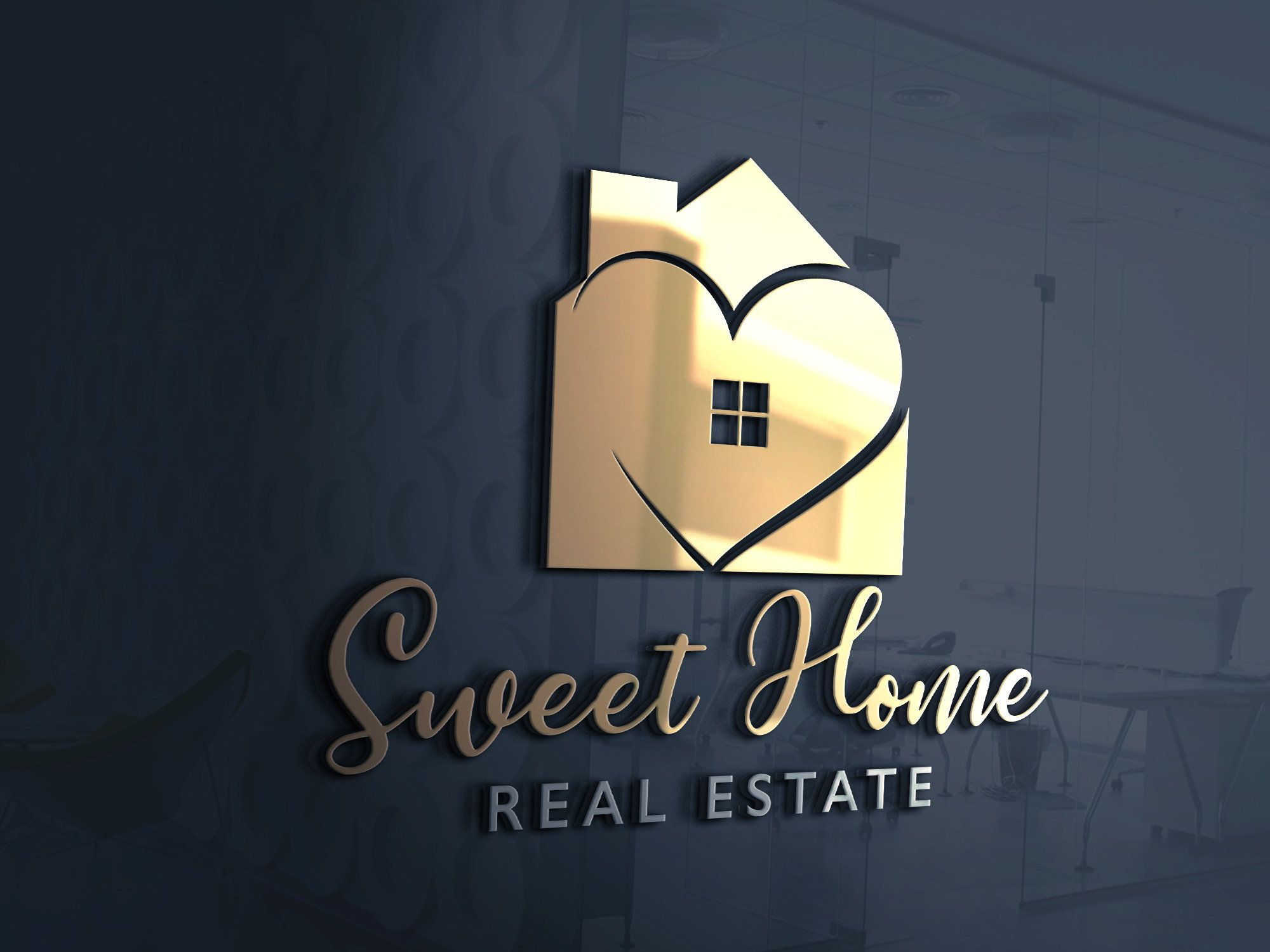 Home Decor Logo House Decor Home Decor Logo Design Etsy In 2021 Home Logo Decor Logo Realtor Logo Design