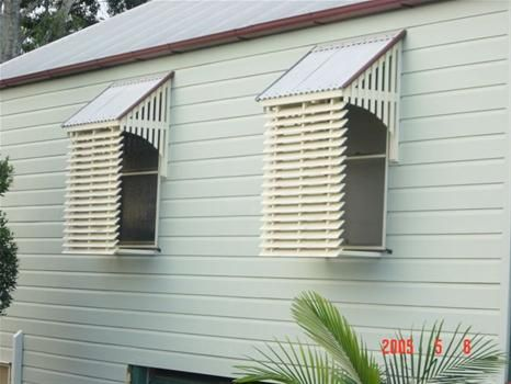 timber window awnings how to - Google Search
