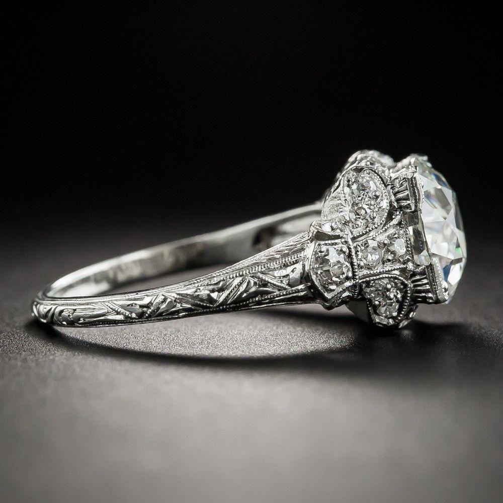 Curved Wedding Band women vintage Rose gold Black Diamond