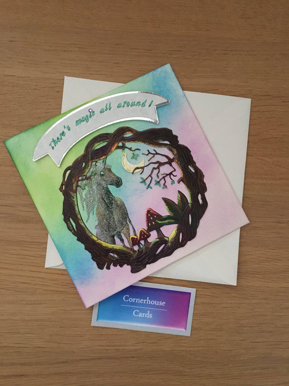 unicorn birthday card for lovers of fantasy magic fairies