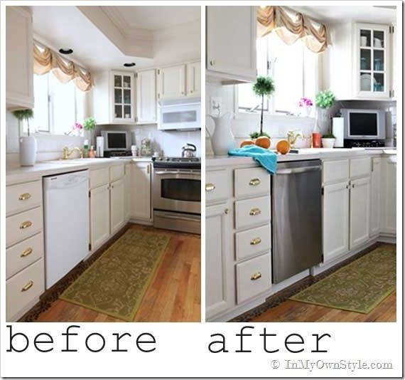 Diy Paint Kitchen Cabinets White: A Kitchen Makeover: Simple Changes Can Make Such A Huge
