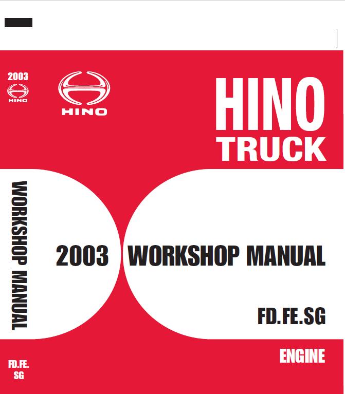 Hino Truck 2003 Service Manual Hino Trucks Manual