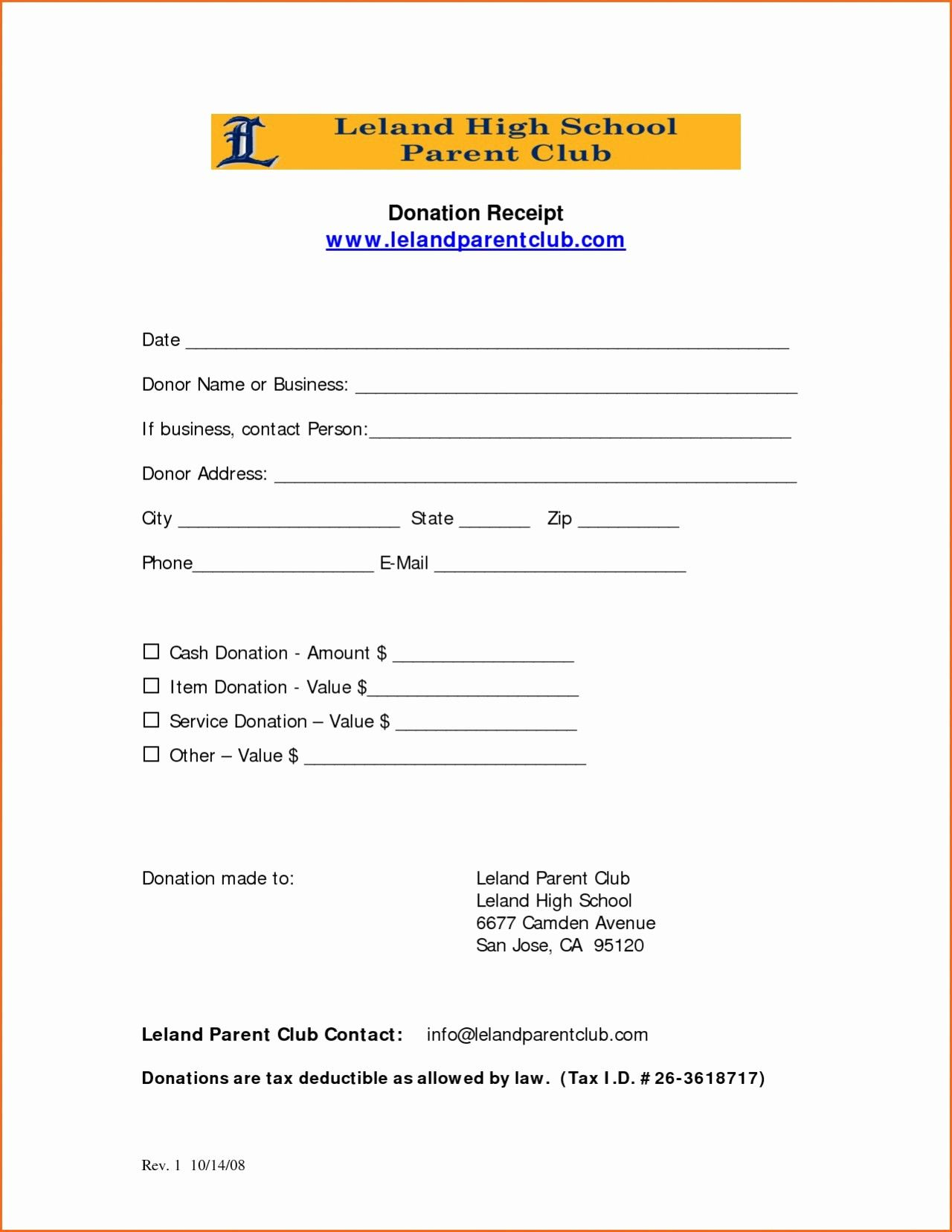 Donation Form For Tax Purposes Awesome Donation Tax Receipt Template Fresh Church Donation Letter Receipt Template Business Letter Template Donation Form