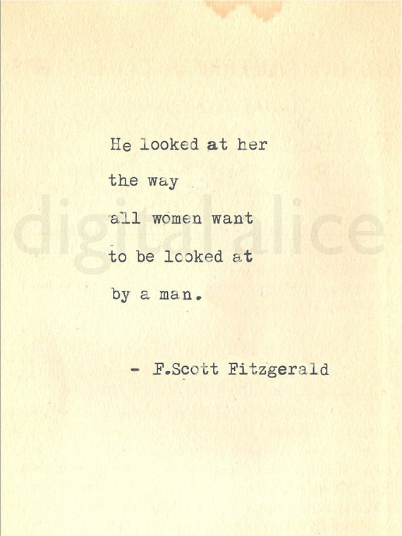Vintage Typewriter Print F Scott Fitzgerald Gatsby Quote Wall Art