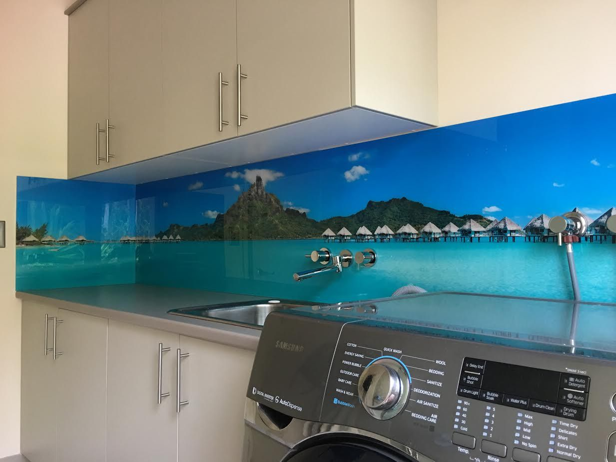 Laundry splendor - our #luxury #printed #acrylicsplashbacks make any ...