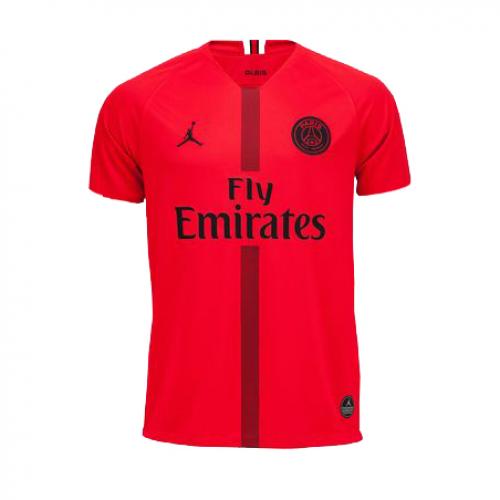 psg jordan goalkeeper red soccer jersey