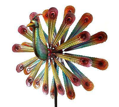 Fancy Windspiel Pfau Metallwindrad doppell ufig Garten Dekoration cm Windrad