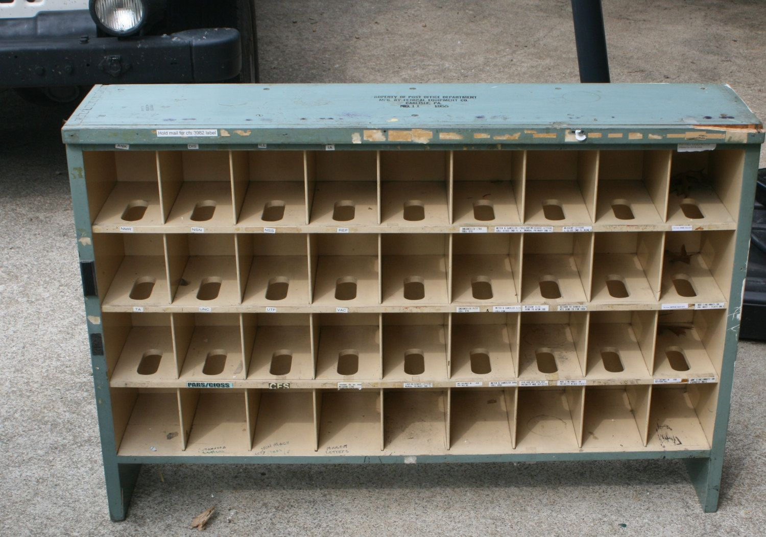 Vintage Post Office Desk Cubby Holes Storage Sort Bins By Bluebirdcreekvintage On Etsy